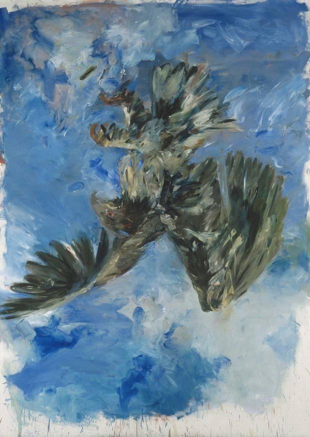 Georg Baselitz. Finger painting-Eagle, 1972