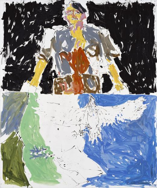 Georg Baselitz. Águila 53-Héroe 65, (Remix), 2007