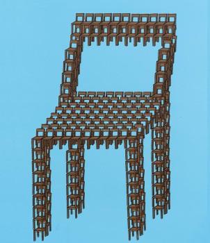 Thomas Bayrle. Feierabend, 1970. Cortesía del artista