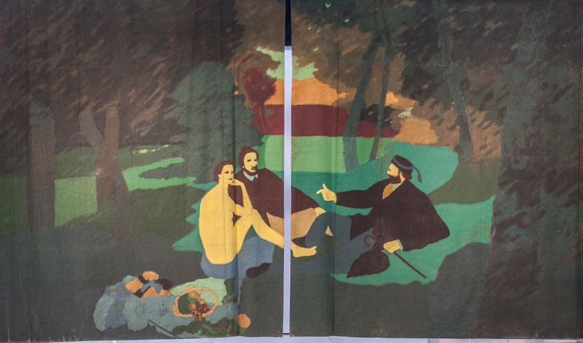 Beatriz González. Telón de la móvil y cambiante naturaleza, 1978. Colección Beatriz González