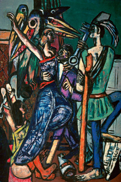 Max Beckmann. Max Beckmann. Begin the Beguine, 1946. Colección del University of Michigan Museum of Art, Ann Arbor
