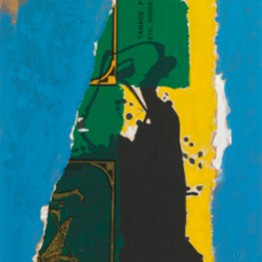 Robert Motherwell. St. Michel Collage with Blue, 1985