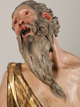 Alonso Berruguete. Sacrificio de Isaac (detalle), 1526-1533. Museo Nacional de Escultura