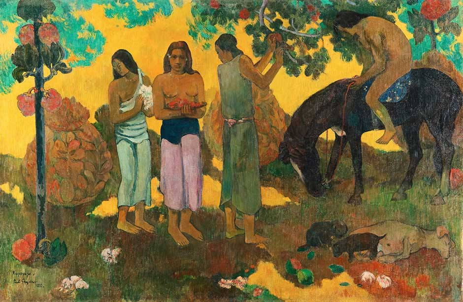 Gauguin. Rupe rupe (The Fruit Harvest), 1899