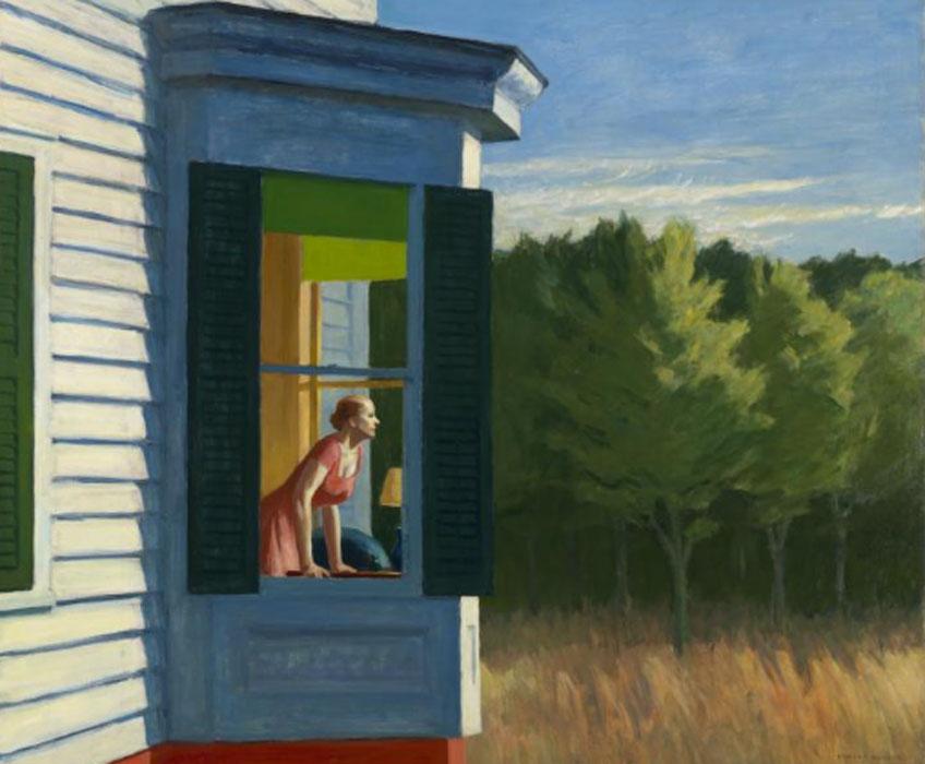 Edward Hopper. Cape Cod Morning, 1950. Smithsonian American Art Museum