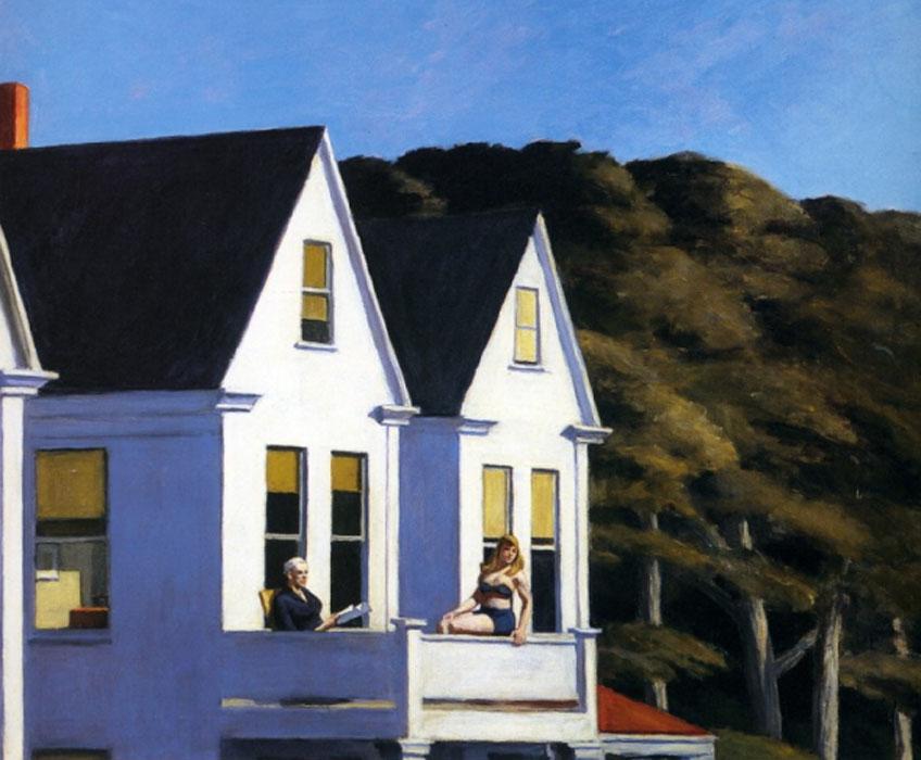 Edward Hopper. Second Story Sunlight, 1960.Whitney Museum of American Art
