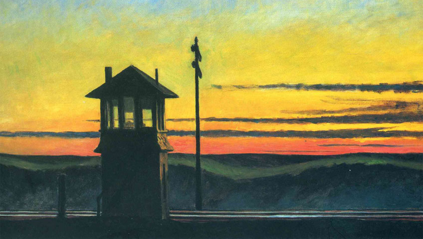 Edward Hopper. Railroad Sunset, 1929. Whitney Museum of American Art