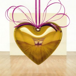 Jeff Koons. Hanging heart (gold/magenta), 1994-2006