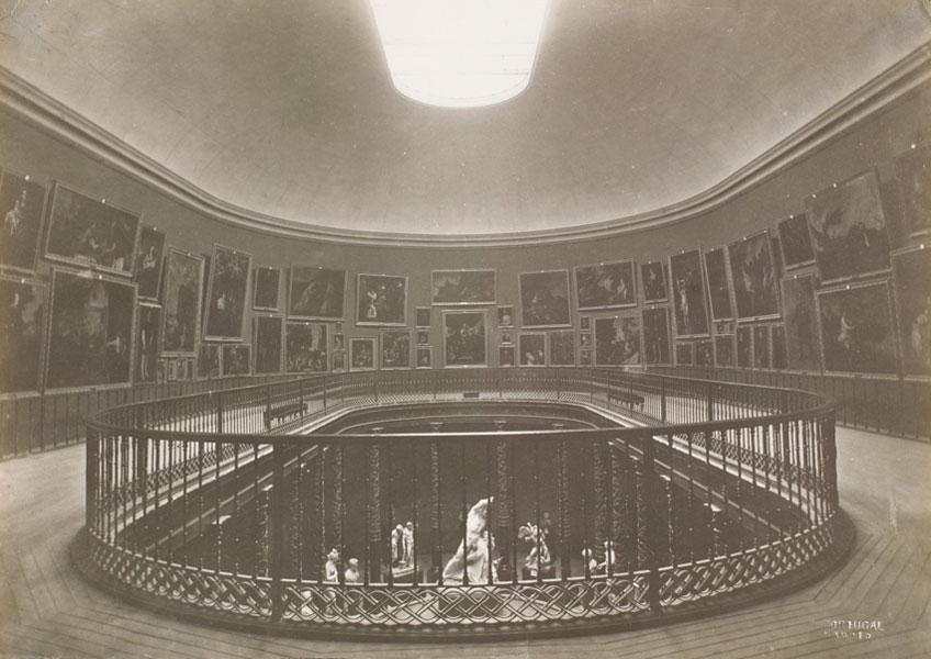 Juan Laurent y Minier. Museo del Prado, vista de la Sala de la Reina Isabel II, 1879. Museo Nacional del Prado