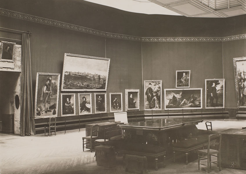José Lacoste y Borde. Museo del Prado, vista de la sala de Velázquez, 1900-1907. Museo Nacional del Prado