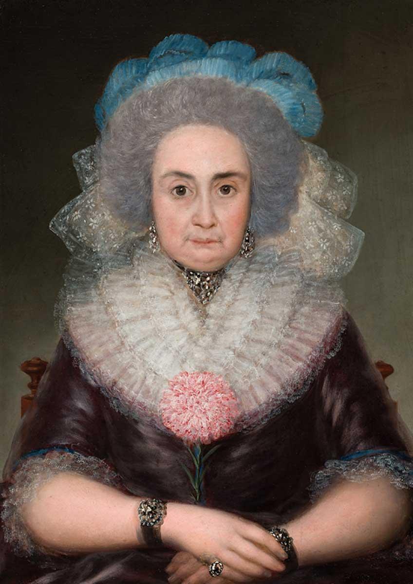 Francisco de Goya. Bernarda Tavira, hacia 1787-1788