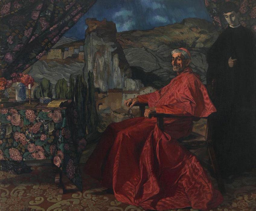 Ignacio Zuloaga. El cardenal, 1912. Museo de Bellas Artes de Bilbao. Donación de don Javier Horn Prado en 1966