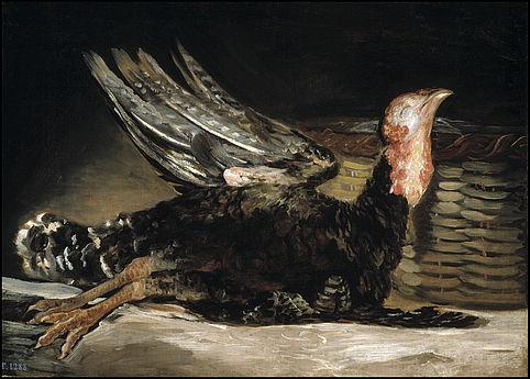 Francisco de Goya. Pavo muerto, 1808-1812. Museo Nacional del Prado