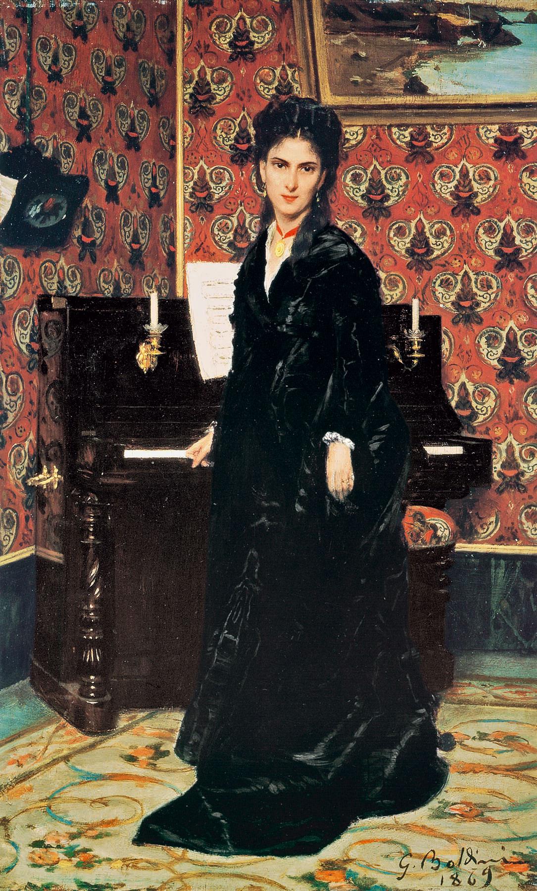 Giovanni Boldini. Mary Donegani, 1869. Istituto Matteucci, Viareggio