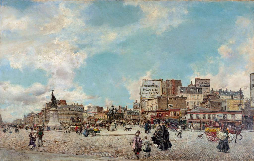 Giovanni Boldini. Place Clichy, 1874. Colección particular
