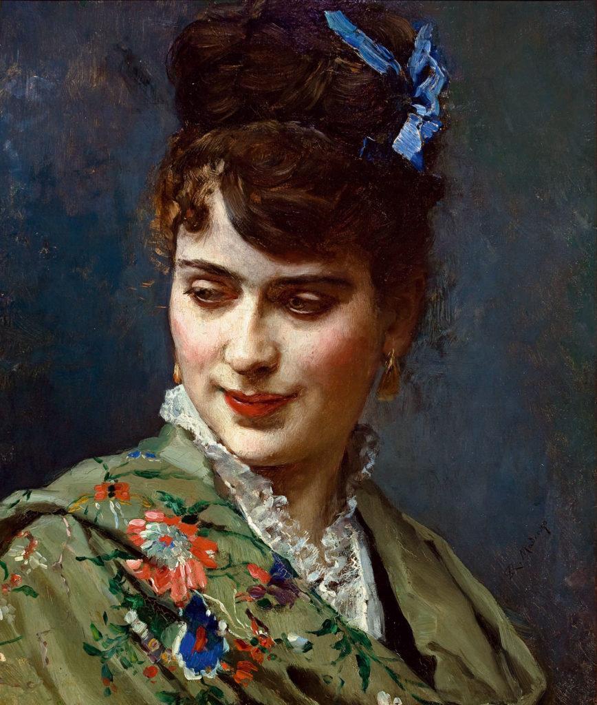 Raimundo de Madrazo. Retrato de Aline Masson, hacia 1870. Colección particular