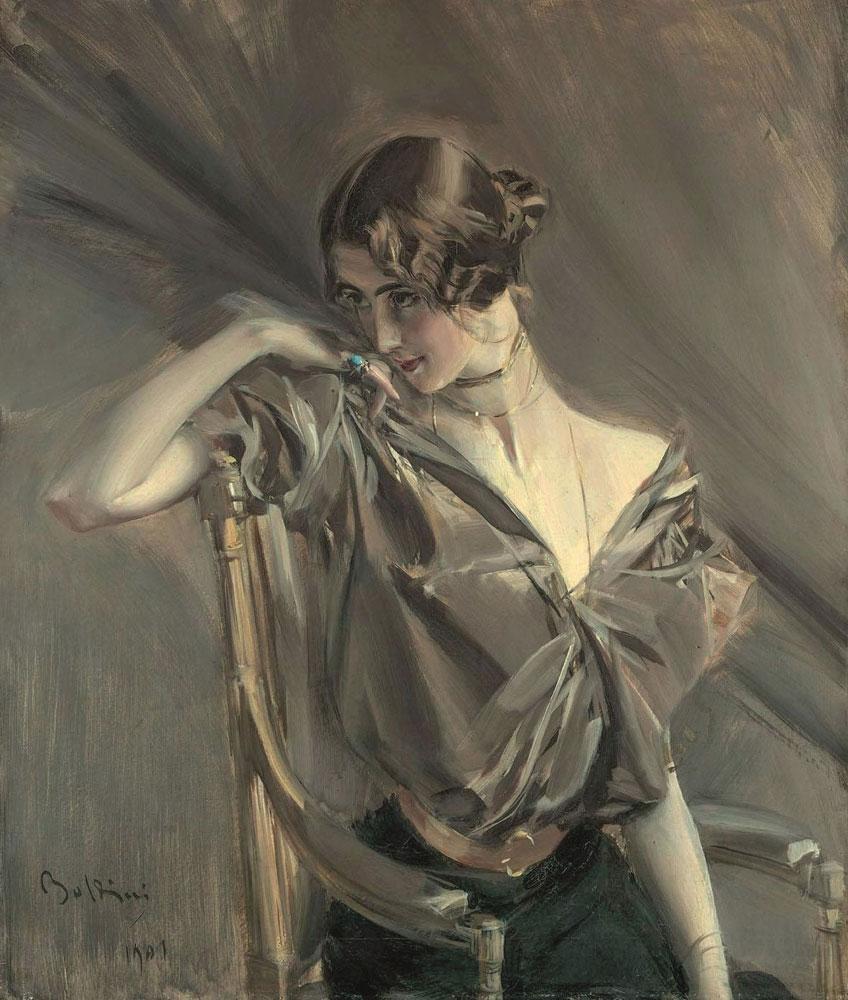 Giovanni Boldini. Cléo de Mérode, 1901. Colección particular