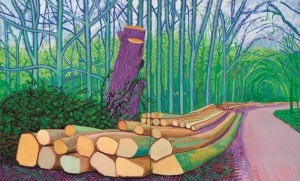 David Hockney. Felled Trees on Woldgate, 2008. Colección Würth