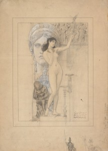 Gustav Klimt. Preliminary Drawing for Allegory of Sculpture, 1889