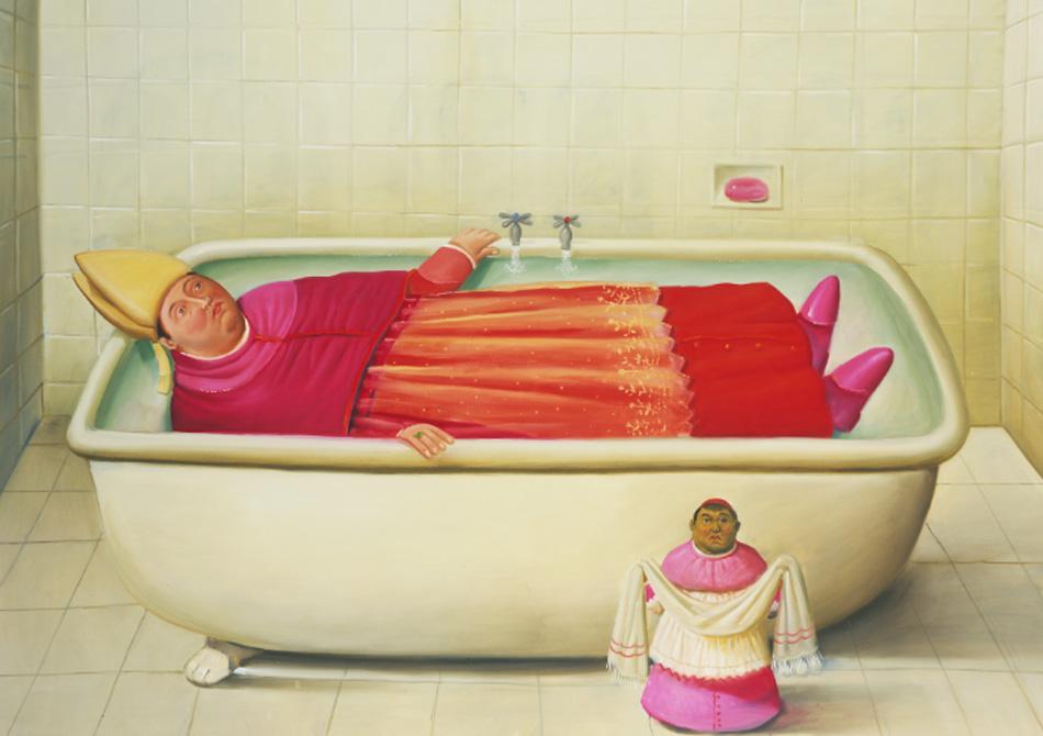 Fernando Botero. El baño del Vaticano, 2006