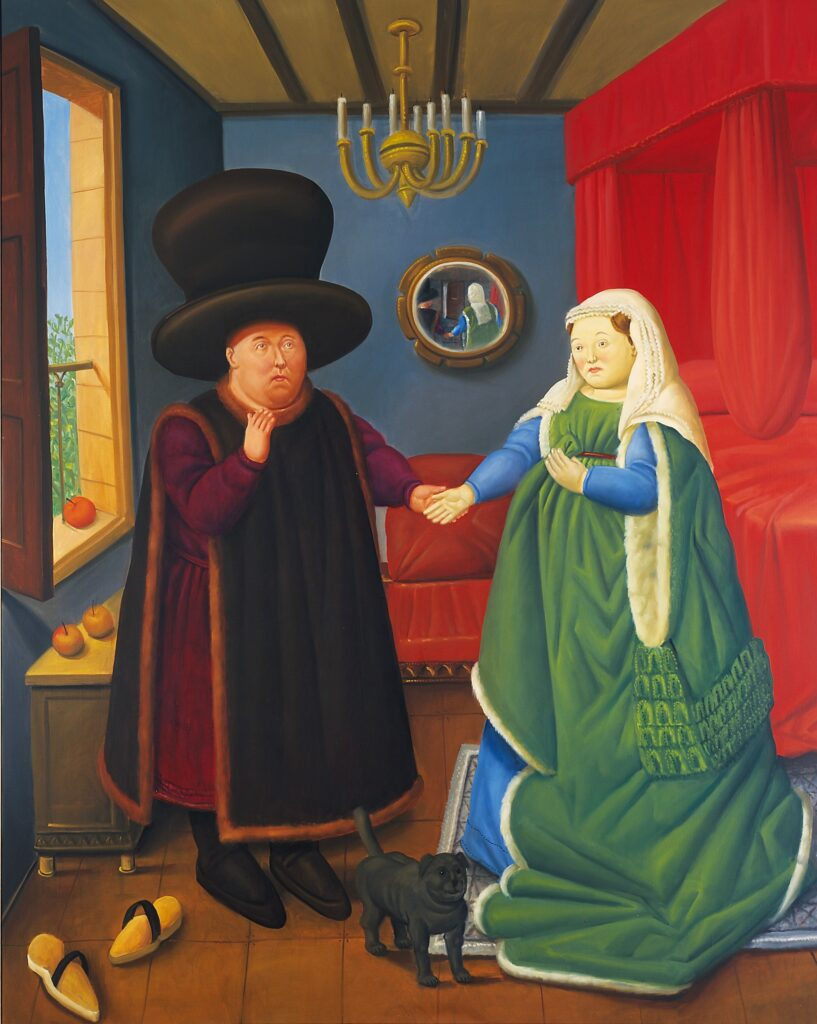 Fernando Botero. The Arnolfini según Van Eyck, 2006