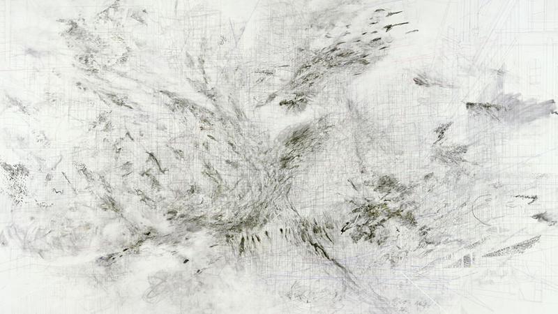 Julie Mehretu. Fragment, 2009. Cortesía de la artista y Marian Goodman Gallery, Nueva York. © Julie Mehretu