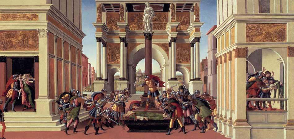 Botticelli. La historia de Lucrecia , 1496-1504. Isabella Stewart Gardner Museum, Boston