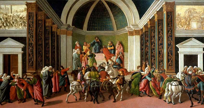 Boticelli. La historia de Virginia, hacia 1500. Accademia Carrara, Bérgamo