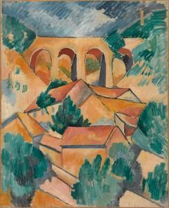 Georges Braque. El viaducto de L'Estaque, 1908. Centre Pompidou