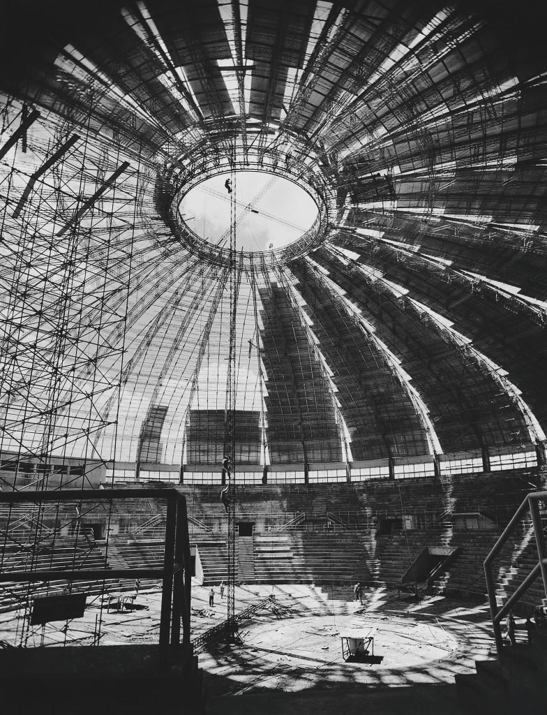 Hans Gunter Flieg. Cubierta del gimnasio de Ibirapuera,  São Paulo-SP, 1956
