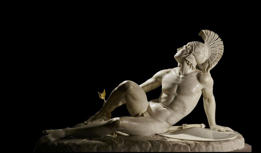 Filippo Albacini. Aquiles herido, 1825. Chatsworth House