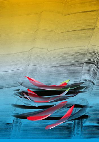 José Manuel Broto. Sin título, 2018. Litografía en color