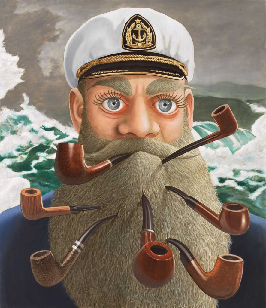 Sean Landers. Captain Homer (Seven pipes for seven seas), 2016. Colección privada. © Cortesía del artista y Rodolphe Janssen, Bruselas