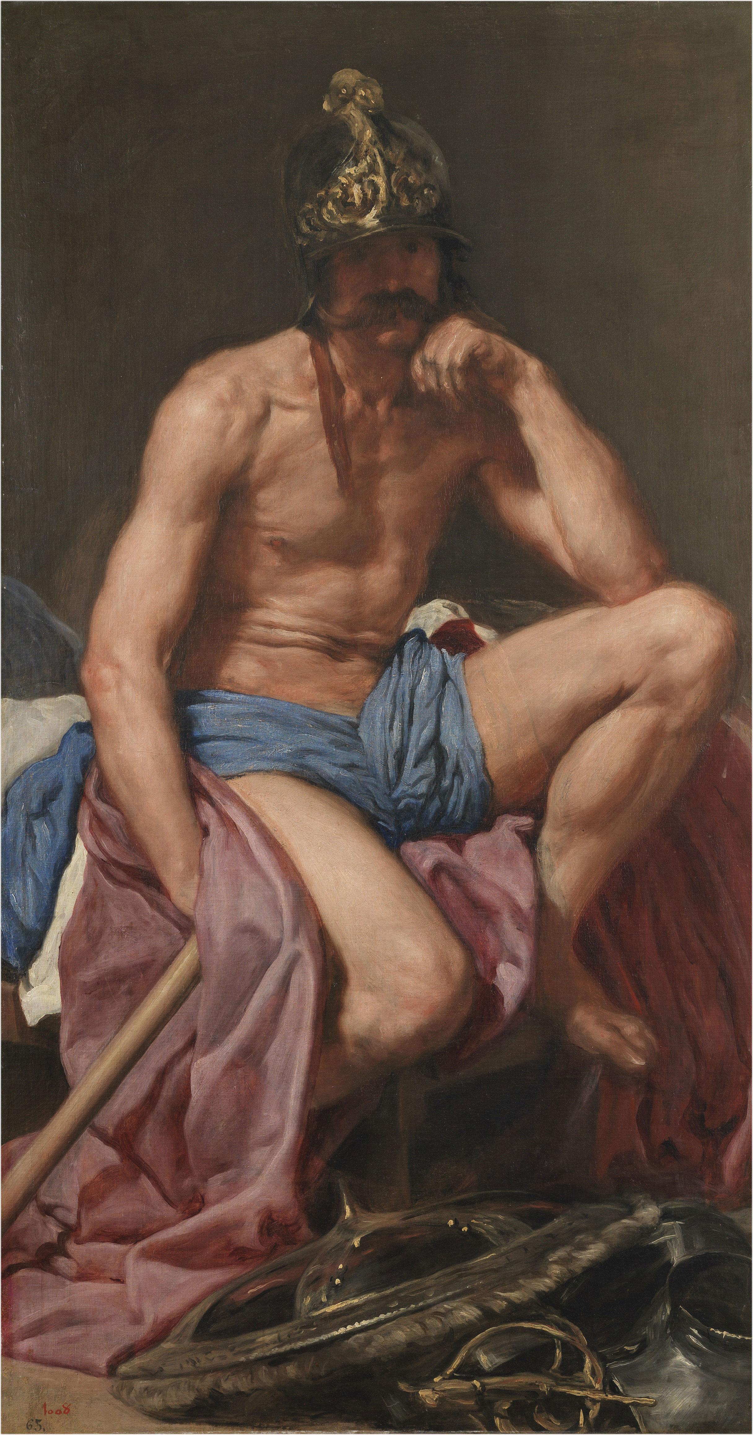 Diego Velázquez, Marte, hacia 1638. Museo Nacional del Prado