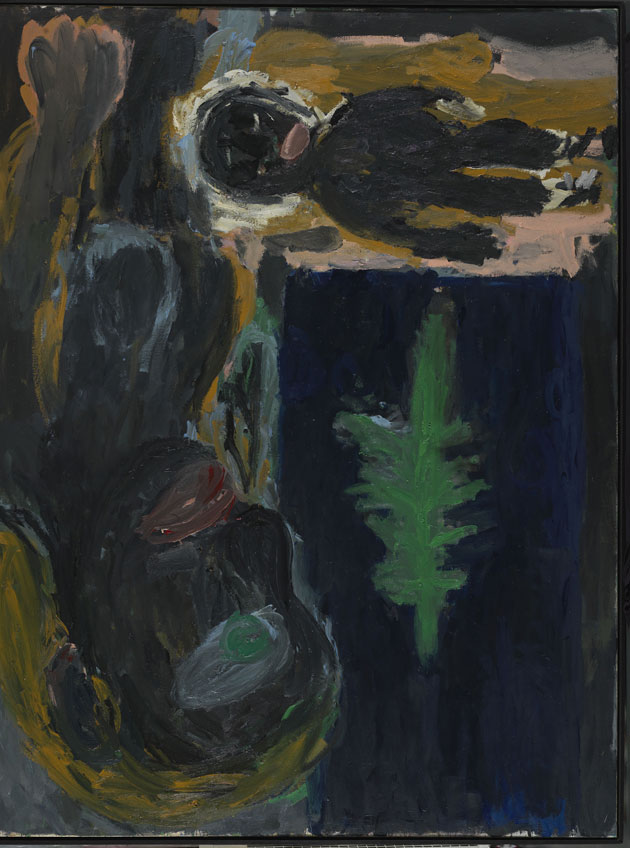 "Georg Baselitz. Madre negra con niño negro, 1985. Colección ""la Caixa"" de Arte Contemporáneo. @Georg Baselitz, 2019"