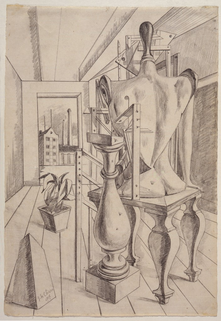 La sposa fedele, 1917. Galleria Nazionale d'Arte Moderna de Roma, Roma © Giorgio de Chirico, VEGAP, Barcelona, 2017
