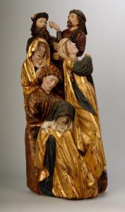 Anónimo (Taller de Bruselas). Fragmento de calvario con seis personajes, hacia 1460-1480. Museo Nacional de Escultura, Valladolid © Museo Nacional de Escultura, Valladolid. Fotografia: Javier Muñoz i Paz Pastor