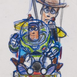 Bob Pauley. Woody y Buzz (Toy Story, 1995) © Disney/Pixar