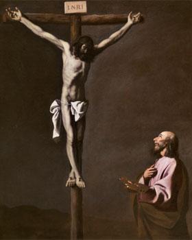 Zurbaran. Zurbarán, Crucifixión con pintor, c 1650 Madrid, Museo Nacional del Prado