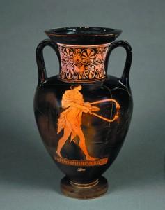 Pintor de Berlin. Ánfora: citarista, hacia 480-470 a.C. © RMN-Grand Palais, Musée du Louvre. Foto: Hervé Lewandowski