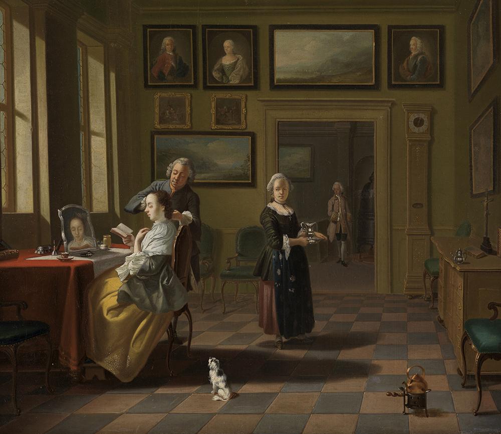 Justus Juncker. Bei der Morgentoilette, 1752. Staatliche Kunsthalle Karlsruhe