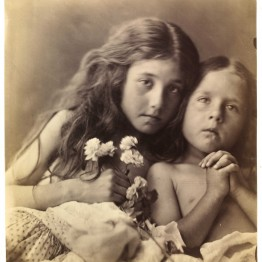 Julia Margaret Cameron. The red and white Roses, 1865