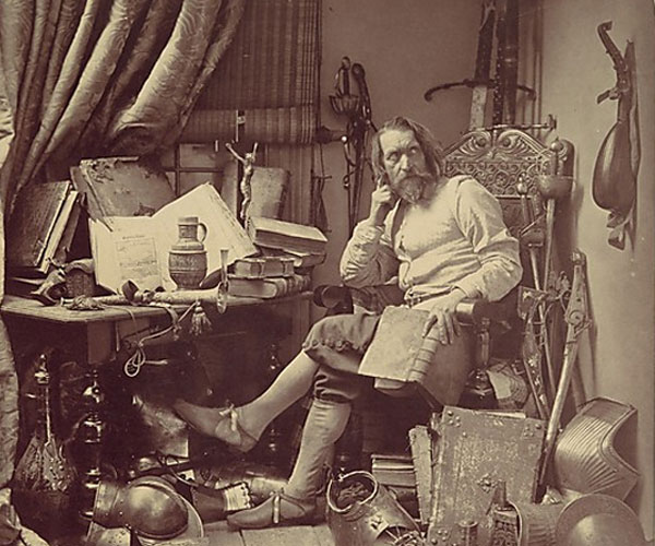 Julia Margaret Cameron. Don Quixote in His Study, 1857