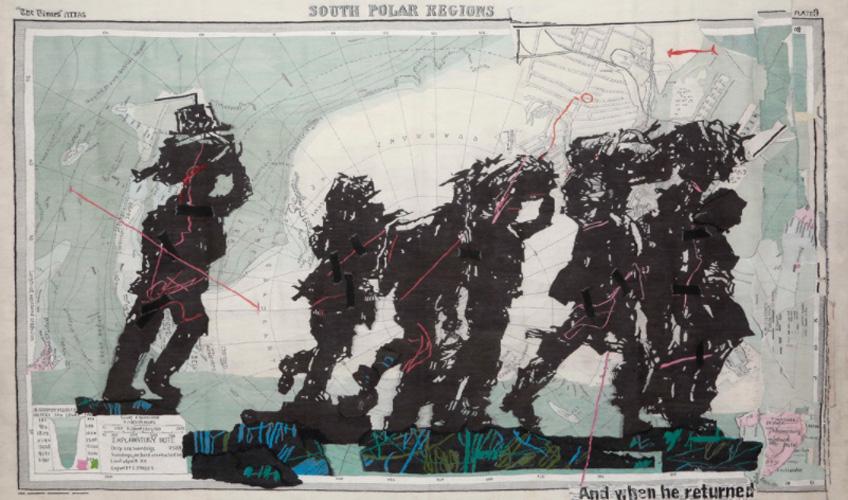 William Kentridge. South Polar Regions, 2016. The Stephens Tapestry Studio. Cortesía del artista y Goodman Gallery