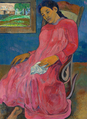 Paul Gauguin. Melancholic (Faaturuma), 1891. Nelson-Atkins Museum of Art, Kansas City
