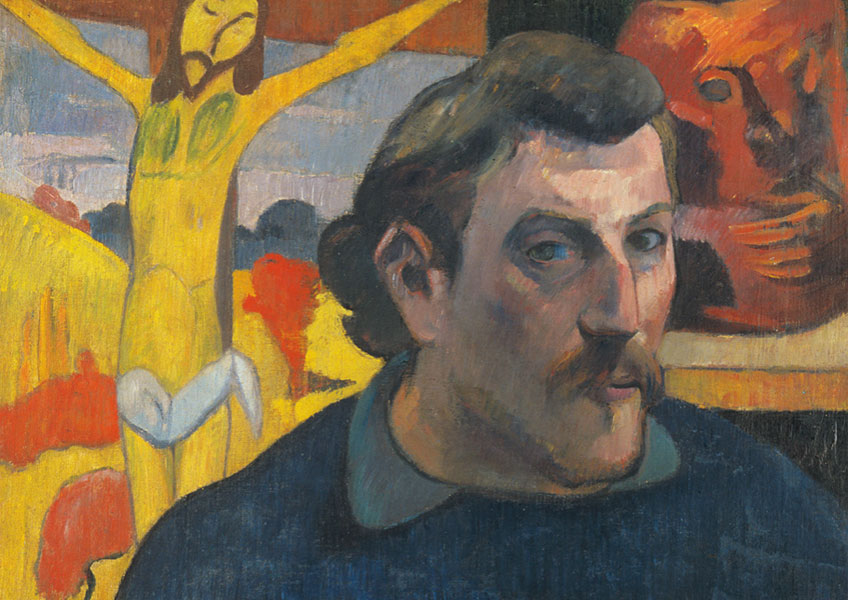 Paul Gauguin. Self-portrait with Yellow Christ, 1890–1891. Musée d'Orsay, Paris