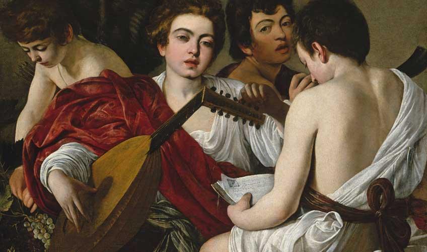 Michelangelo Merisi Caravaggio. Los músicos,  hacia 1596-1597. Nueva York, The Metropolitan  Museum of Art, Rogers Fund