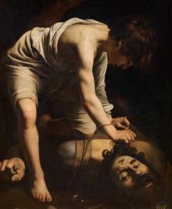 Michelangelo Merisi Caravaggio. David vencedor de Goliat,  hacia 1598- 1599. Museo Nacional del Prado