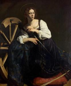 Michelangelo Merisi Caravaggio. Santa Catalina de Alejandría,  hacia  1598-1599. Museo Thyssen-Bornemisza
