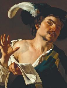 Dirck van Baburen. Joven cantante,  1622. Frankfurt am Main, Städel Museum,   Gemeinsames Eigentum mit dem  Städelschen Museum-  Verein e.V.